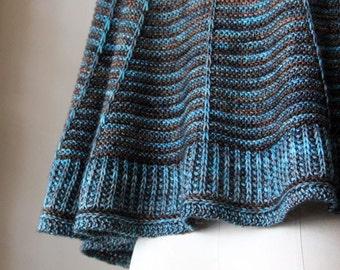 knitting pattern, knit pattern, shawl pattern, knit shawl pattern, brioche shawl, Sundial Shawl, diy, instant download pdf colorwork shawl
