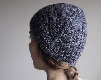 knitting pattern, knit hat pattern, knit pattern, chunky hat, beanie pattern, toque pattern, winter wish, pom-pom hat, instant download pdf