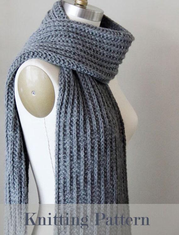 Knitting Pattern Knit Pattern Scarf Pattern Knit Scarf Etsy