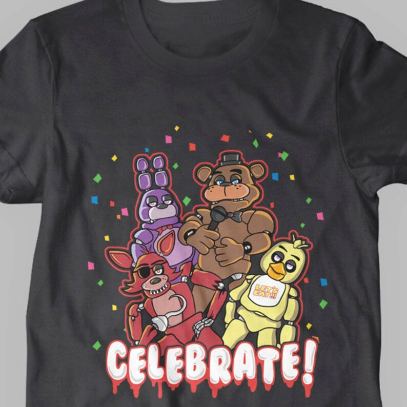 T-shirts & Tops Five Nights At Freddys Fnaf Optional Personalised Kids T Shirt Spooky 2 Easy To Use