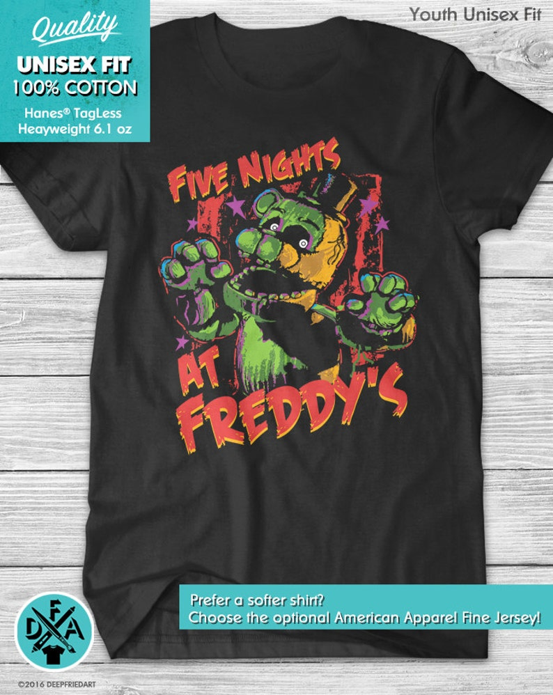 Five Nights At Freddys Fnaf Optional Personalised Kids T Shirt Spooky 2 Easy To Use Clothes, Shoes & Accessories