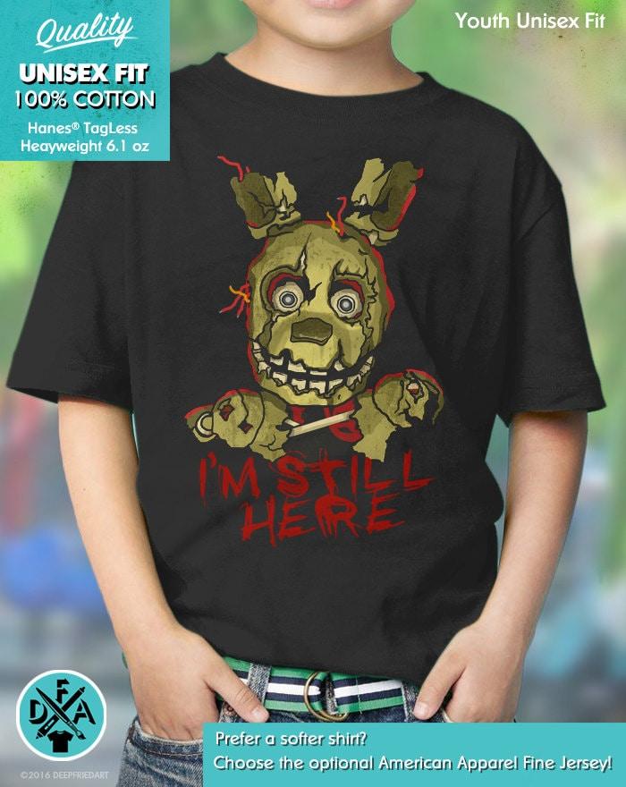 Five Nights At Freddys FNAF optional personalised kids t shirt spooky 2