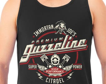 New Immortan Joe's Premium Guzzeline Mad Max Inspired Parody Men's Tank Top T-Shirt Unisex Tanks Adult Sizes Guzzeline
