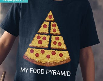New Pizza Junk Food Funny Youth Kids Shirt and Toddler Shirt Sizes Pizza Junkie