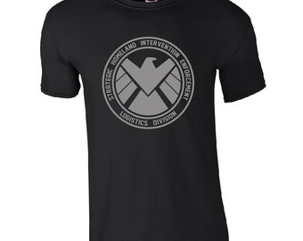 Unisex Agents Of SHIELD T Shirt Inspired TV Superhero Shield Men Top Adults Tee All Size