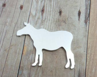 Mama moose stamping blank, female moose blank, aluminum moose blanks, moose blanks, animal blanks, aluminum mama moose, stampable moose