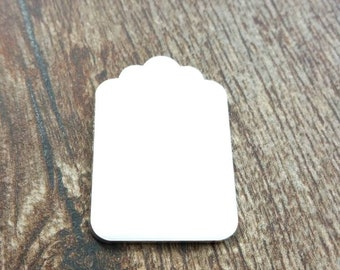 Luggage tag blank, aluminum tag blank, aluminum Stamping blanks, stampable luggage tag, hand stamping supplies, aluminum tags, tag blank