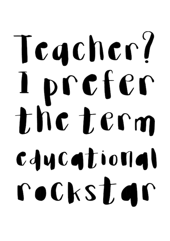picture about Printable Teacher Quotes named Trainer Informative Rockstar Printable Instructor Present Quotations Print Poster Instructor Items Reward for Instructor Rockstar Fast Obtain Amusing Print