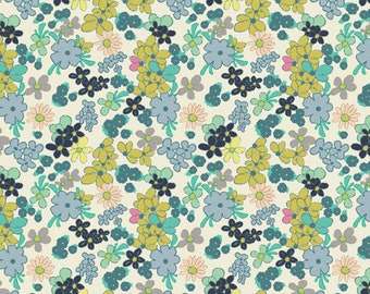 SALE Ladylike Green Tea, by Art Gallery Fabrics Carnaby Street Collection, Pat Bravo, fabric yardage, cotton, floral quilting, girls dresses