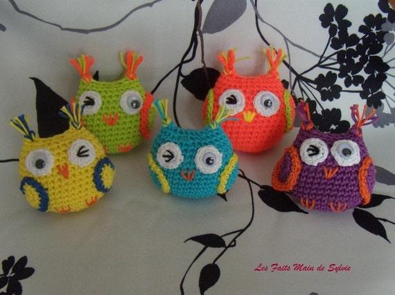 Petit Hibou En Coton Au Crochet