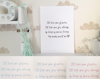 I'll love you forever print.