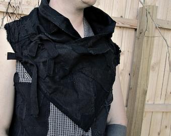 Shrug Mantle Dystopian Cowl Post Apocalypse versatile scarf and  wrap shawl cape