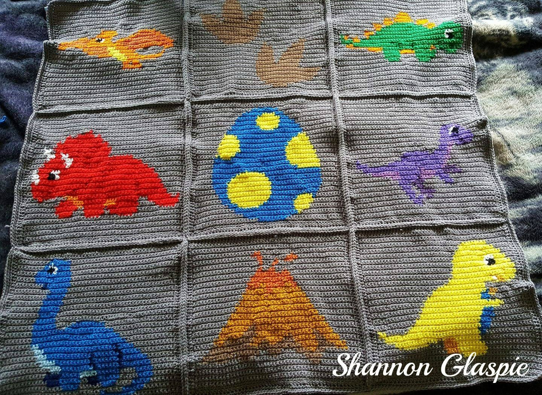Instant Download Dinosaurs Crochet Graph Crochet Pattern Etsy