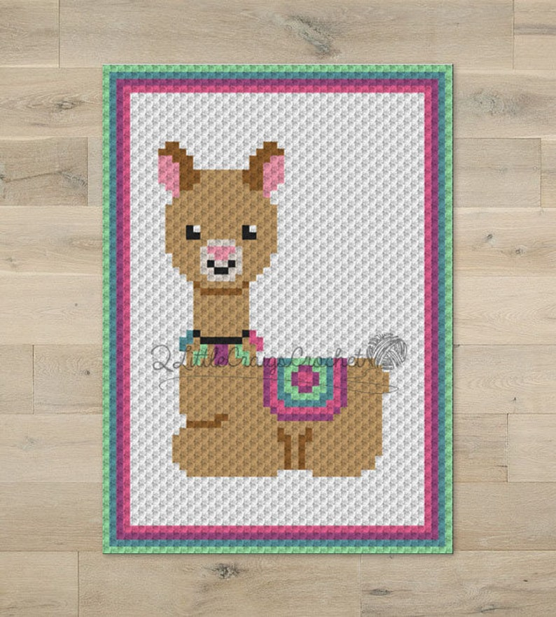 INSTANT DOWNLOAD - Llama Graph - Llama c2c - Crochet Graph - Crochet  Pattern - Baby Blanket - Corner to Corner - C2C - C2C Written