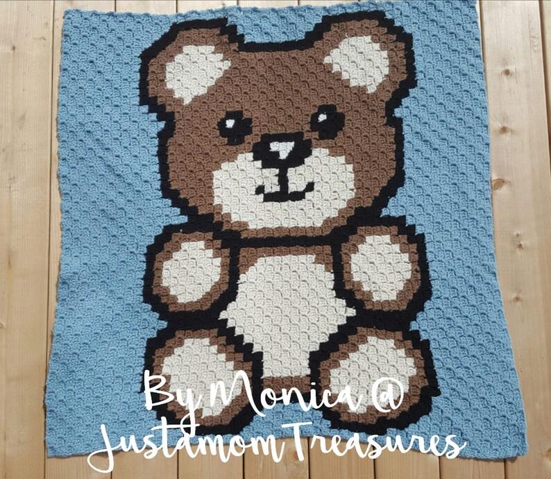 INSTANT DOWNLOAD - Teddy Bear - Baby Bear - Baby Blanket - c2c - c2c  Written - Crochet Graph - Crochet Pattern - Crochet Chart - c2c Graph