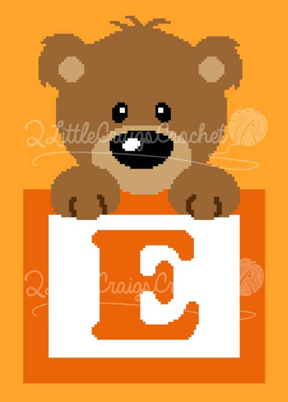 Teddy Bear Afghan, C2C Crochet Pattern, Written Row Counts, C2C ... | 795x570