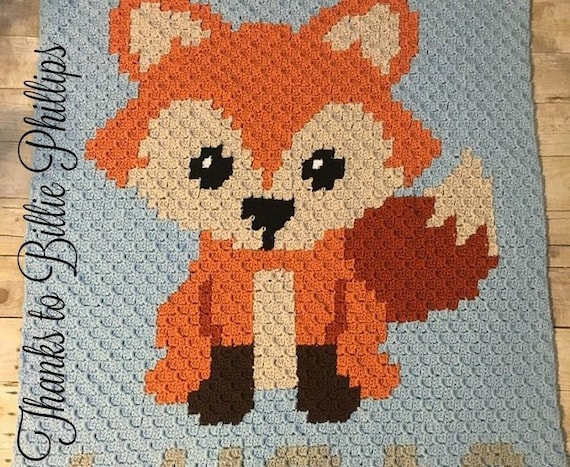 Crochet Patterns WOODLAND BABY BEARS Color Graph Afghan Pattern