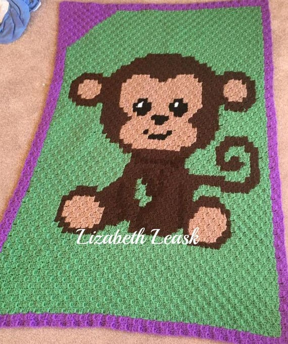 Instant Download Monkey Crochet Graph Crochet Pattern Etsy