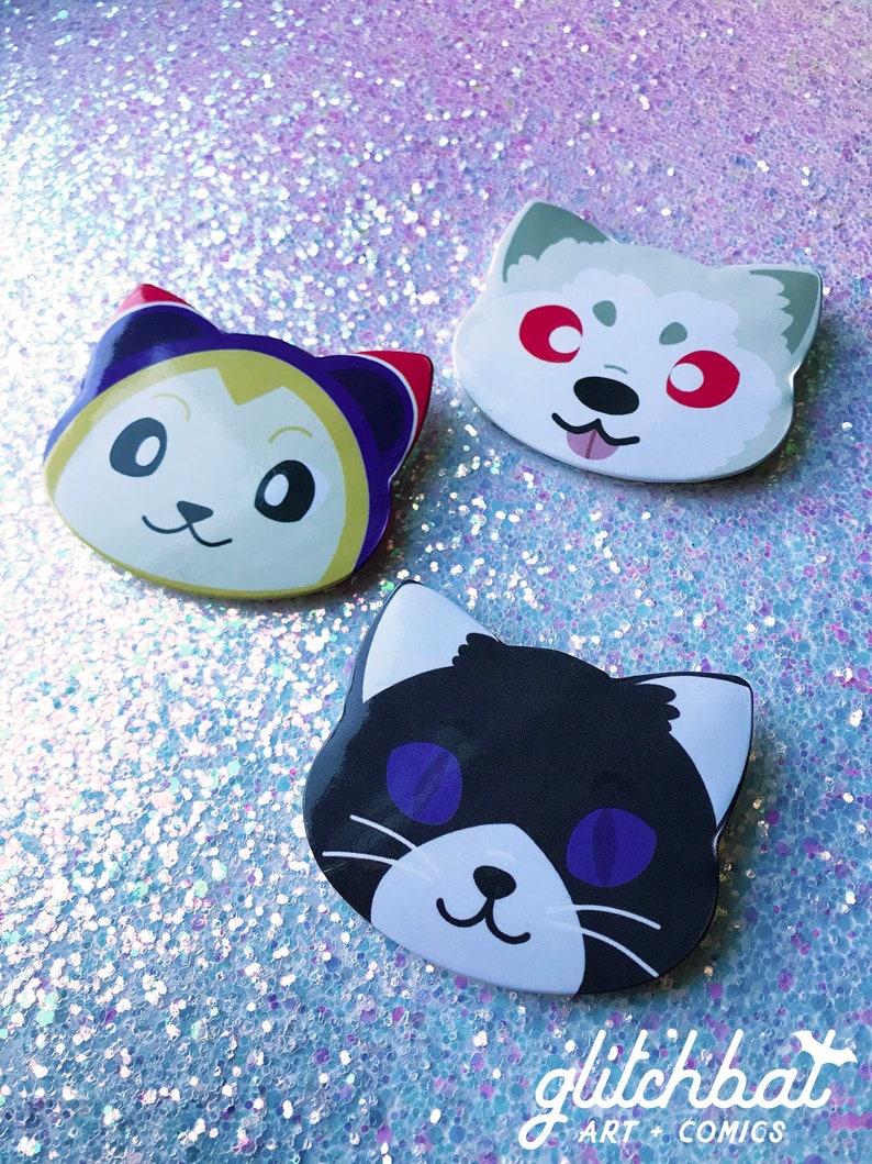 Persona 3 / Persona 4 / Persona 5 FURRY FRIENDS - animal shaped button