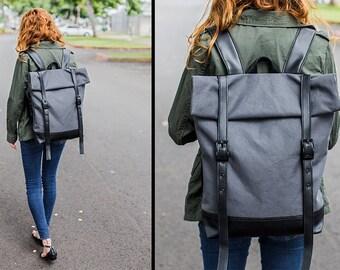 Travel Backpack Rucksack - Faux Leather Backpack - Canvas Backpack - College Backpacks - Mens Backpack - Womens Backpack Back Pack Book Bags