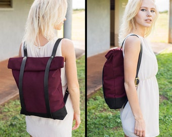 feaff4e42f85 Cool Backpack - Burgundy Red Book Bag - School Bag Bookbag - Backpack for  College - School Backpack - Backpack for Girls and Guys - Rucksack