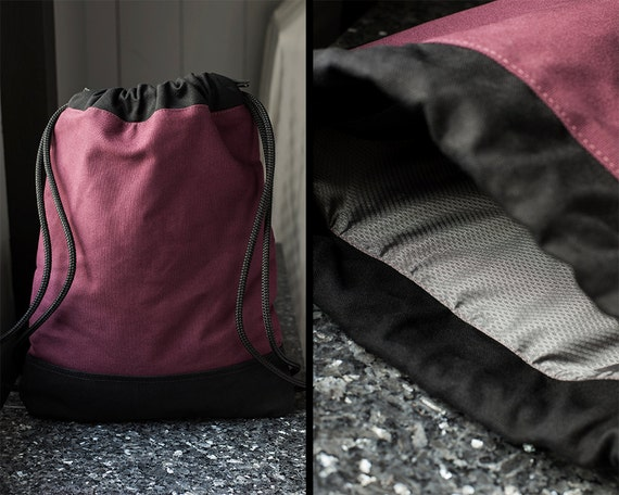 6e1e948d23c6 Stylish Backpack Burgundy Rucksack Backpack Drawstring