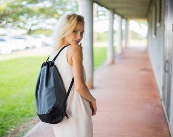Drawstring Gym Bag for Women & Men - Gray Gym Drawstring Backpack - Sports Bag - Workout Bag - Womens Gym Bag - Mens Gym Bag Drawstring Bag