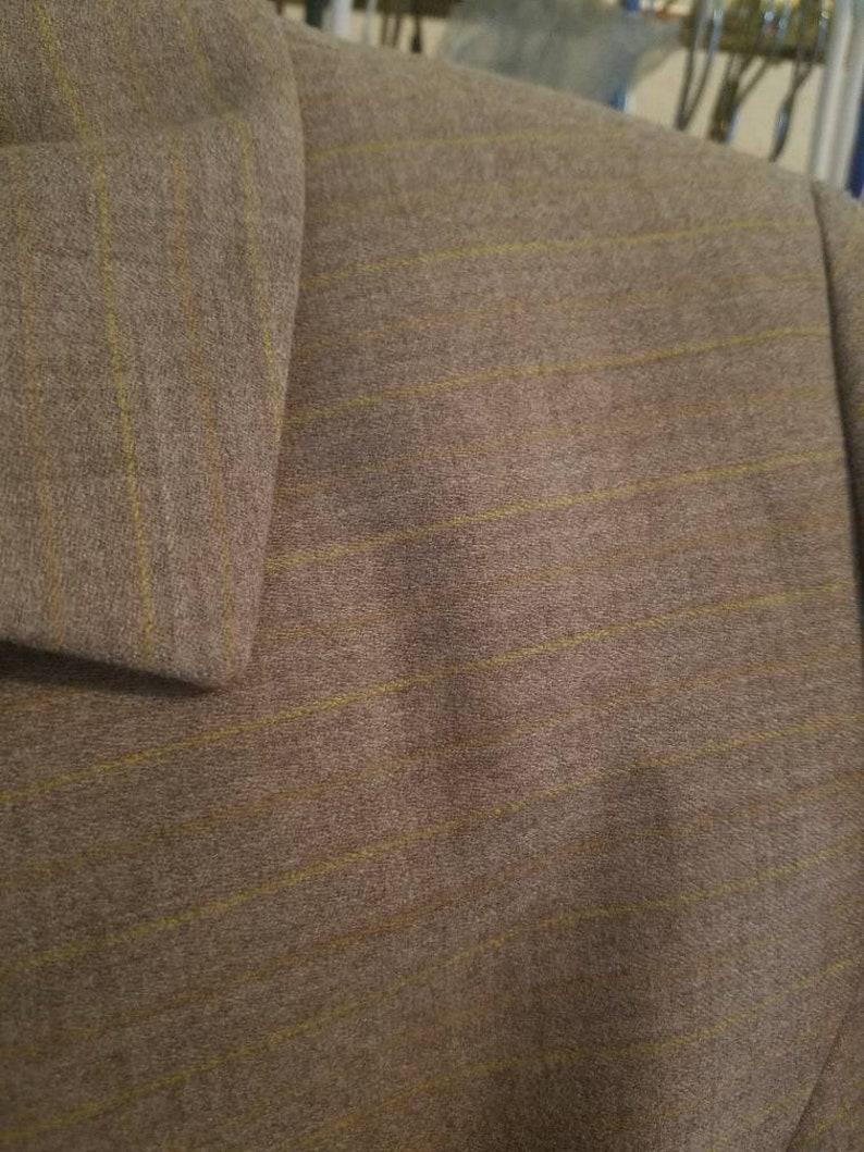 wool power suit skirt suit Vintage Versace versus 70s gray blazer yellow
