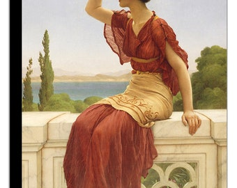 PR-033 Artistic Ephemera 8x10 Print ~ John William GODWARD ~ Dolce Far Niente