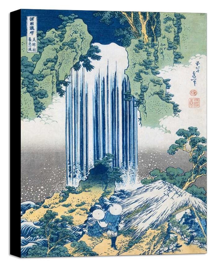 Katsushika Hokusai Die Yoro Fällt, Ca. 1830-1831 - Leinwand Wand Kunst Gerahmt Druck Verschiedene Größen