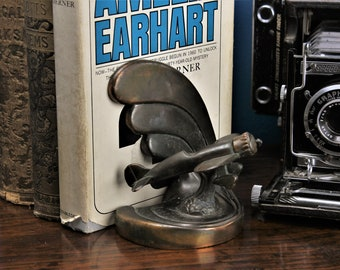 Art Deco Bookend Airplane Aviation