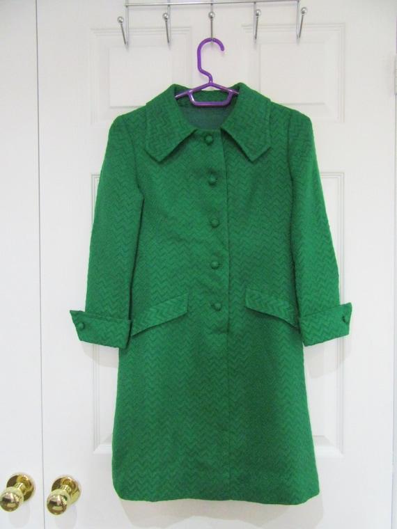 1970s Handmade Lined Winter Dress