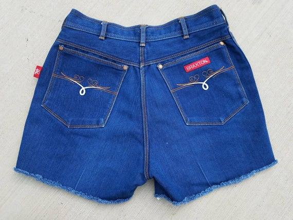 cut up denim shorts