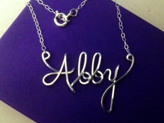 Draht Namen Halskette personalisierte Name personalisierte   Etsy