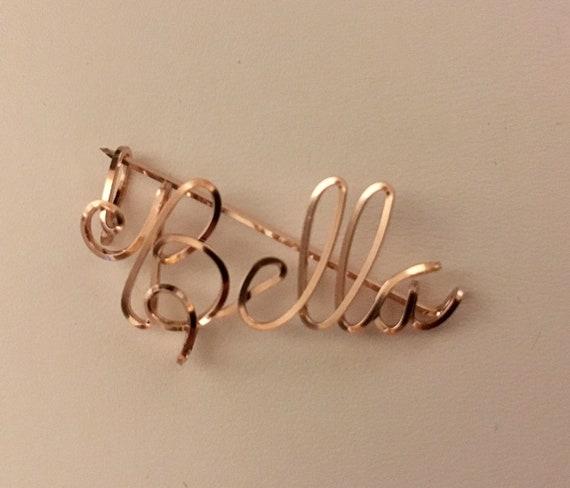 Draht Namen Pin 14 K Rose Gold füllen Name personalisierte   Etsy