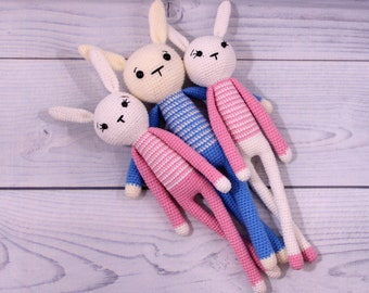 Stuffed Animal Bunny Plush Toy Crochet Rabbit Stuffed bunny animal Plush bunny toy Rabbit bunny crochet bunny Bunny toy Rabbit stuffed