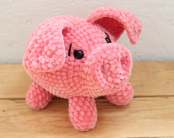 Cute Stuffed Toy Pig Plushy Pink Crochet Gifts Cute pig toy Cute stuffed toy