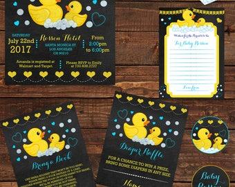 Duck Invitation Etsy