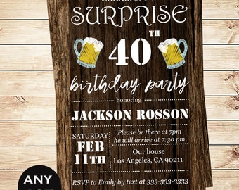 Printable Downloadable Men S Surprise Birthday Party Etsy
