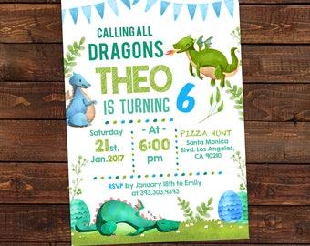 Dragon Invitation Etsy