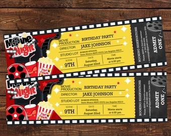 movie ticket invite etsy