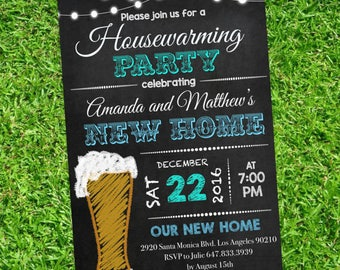 Housewarming invitation - Housewarming Party -  Chalckboard Invitation - New house Invitation -  Editable Text on Adobe #DPI1364