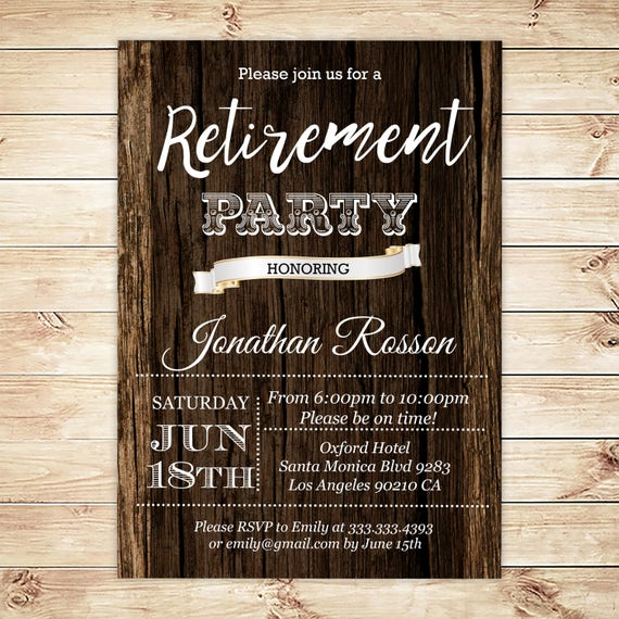 printable retirement invitation retirement for men invitations