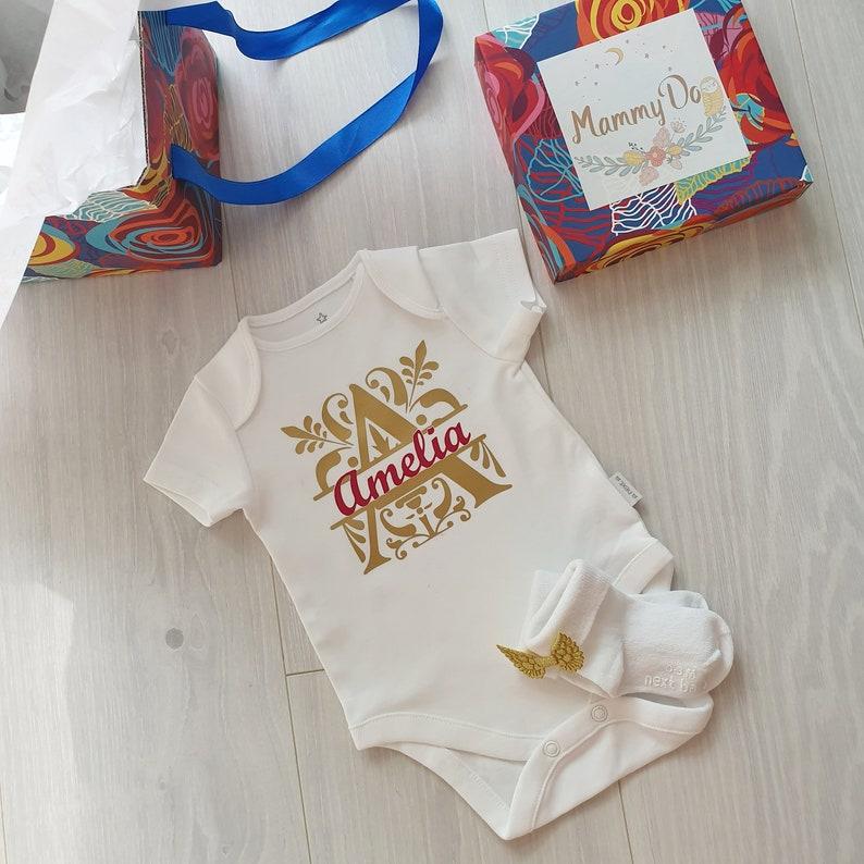 Personalized Baby Bodysuit Custom Baby BodySuit Baby Shirt Baby Shower Gift New Baby gift Baby Apparel 1st Birthday gift Custom Text Baby