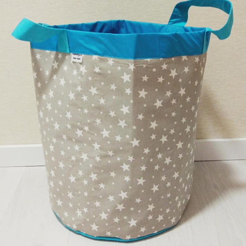 Fabric basket Toy box Basket for toys Toy storage Fabric storage basket Laundry basket Storage bin Laundry bag Gift for baby Unicorn print