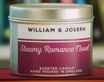 Steamy Romance Novel Candle | Fifty Shades of Grey, 50 Shades of Grey, Bookish gifts, literary gifts, book candles, Bookish Candles