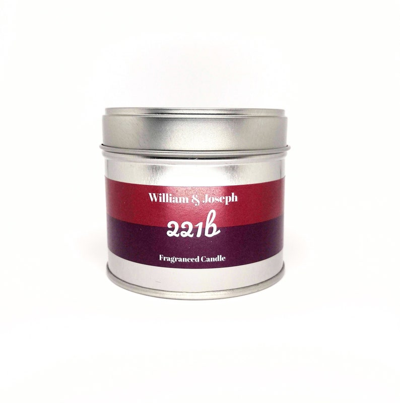 Sherlock  221b Scented Candle  Holmes Book Candles Geek image 0