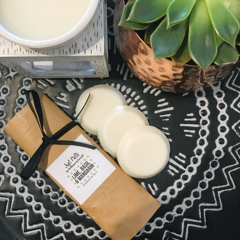 Lime Basil Mandarin Soy Wax Melts Plastic Free Wax Melts UK image 0