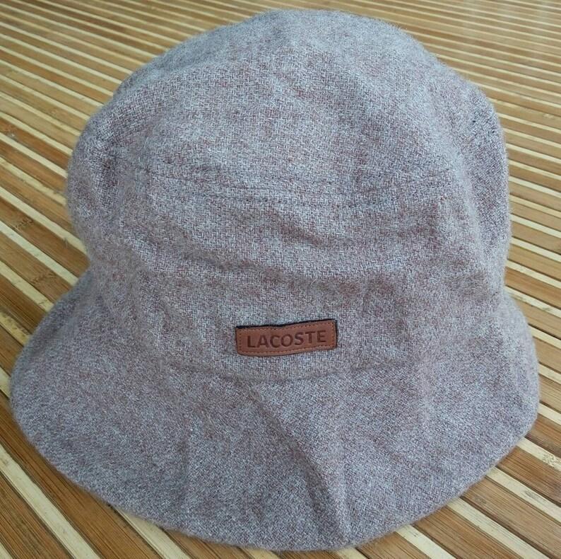 67d16adff58 Vtg 100% Wool LACOSTE Bucket Hat