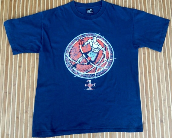Vtg And 1 Navy T Shirt Made In Usa Etsy